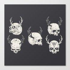skulls & horns Canvas Print