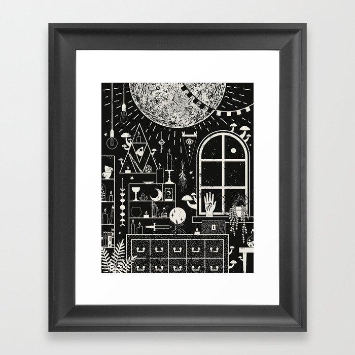 Moon Altar Gerahmter Kunstdruck