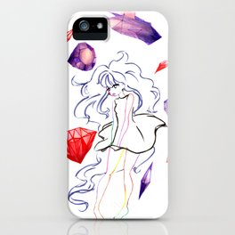weird rock girl iPhone Case