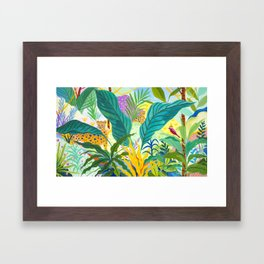 Paradise Jungle Framed Art Print