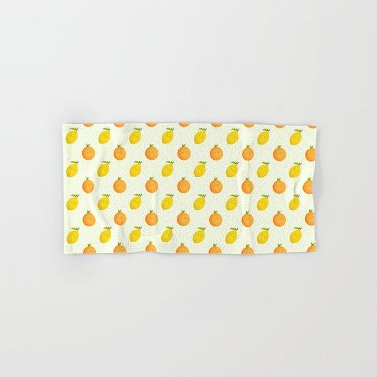 Happy Orange and Lemon Hand & Bath Towel