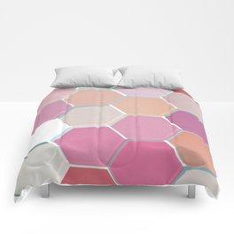 Layered Honeycomb 003 Comforters