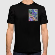Time To Weed MEDIUM Black Mens Fitted Tee