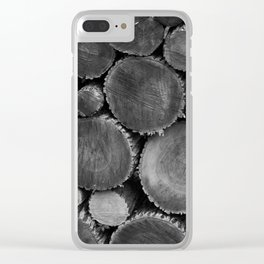 logs Clear iPhone Case