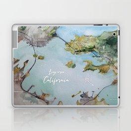 SF, San Francisco, Oakland, Bay Area, California Watercolor Map Art Laptop & iPad Skin