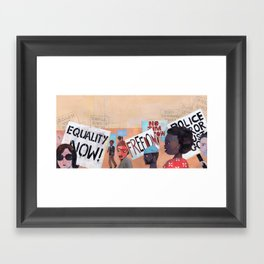EQUALITY NOW Framed Art Print