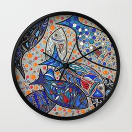 JUST SOME FISHES Wall Clock