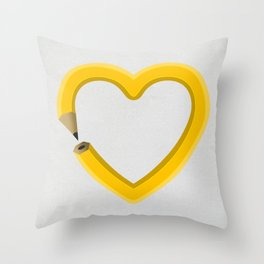 Love to draw Throw Pillow