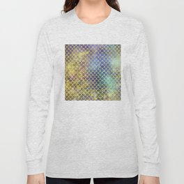 Rainbow Mermaid Scales Pattern Long Sleeve T-shirt