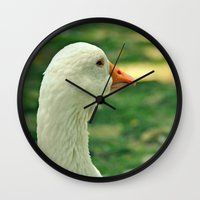 duck Wall Clocks featuring Duck by Ruby_Dag
