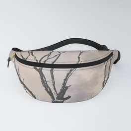 Stormy Skies, Abstract Art Tree Storm Clouds Fanny Pack