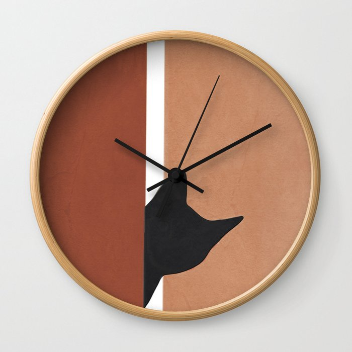 Peeking In Wall Clock