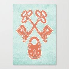 Keys and Lock Canvas Print