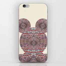 Perception: Checkered red and grey creature iPhone Skin