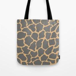 Safari Giraffe Print - Gray & Beige Tote Bag