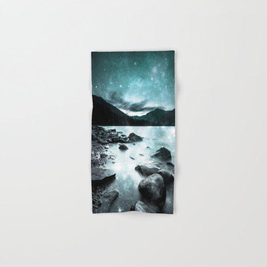 Magical Mountain Lake Teal Ice Hand & Bath Towel