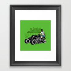 The Bat-mow-bile Framed Art Print