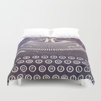 typewriter Duvet Covers featuring Typewriter by Jessica Torres Photography