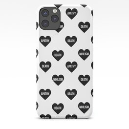 Apathy Death Nihilism Hearts iPhone Case