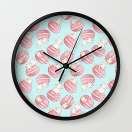 Macarons & Kittens Wall Clock