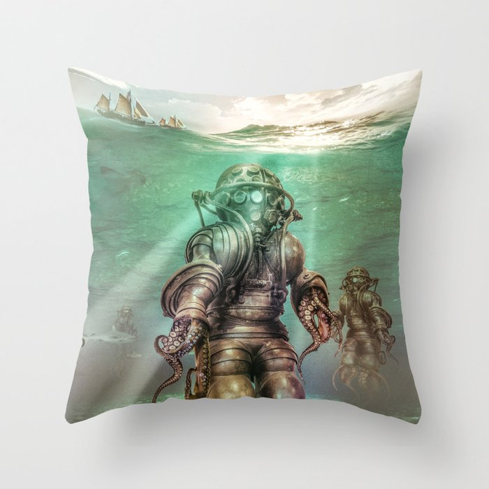 Aquanauts - Tales from under the sea Throw Pillow