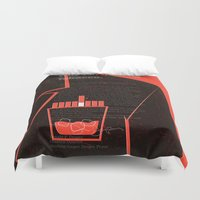 mad men Duvet Covers featuring Mad Men Poster Print by Take Heed