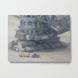 Mining pit machinery Metal Print