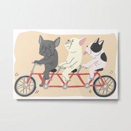 tandem bike Metal Print