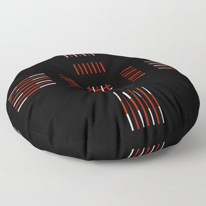 Black White Red Cross Floor Pillow