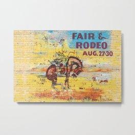 Fair & Rodeo Metal Print