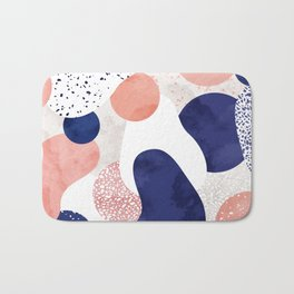 Terrazzo galaxy pink blue white Bath Mat