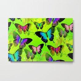 Painted Lady and Morph Butterflies Metal Print