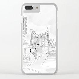 1000 N. La Brea Clear iPhone Case