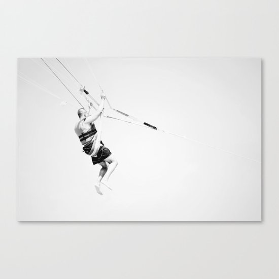 High Key Parasailing Canvas Print