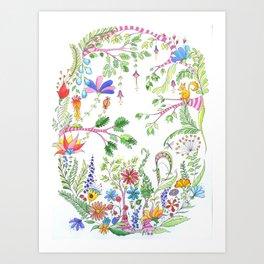 Bucolic forest Art Print