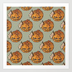 trick or treat? - pattern Art Print