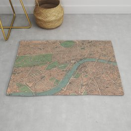 Vintage Pictorial Map of London England (1910) Rug