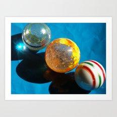 Planets aligned Art Print
