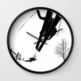 Backyard Shenanigans Wall Clock