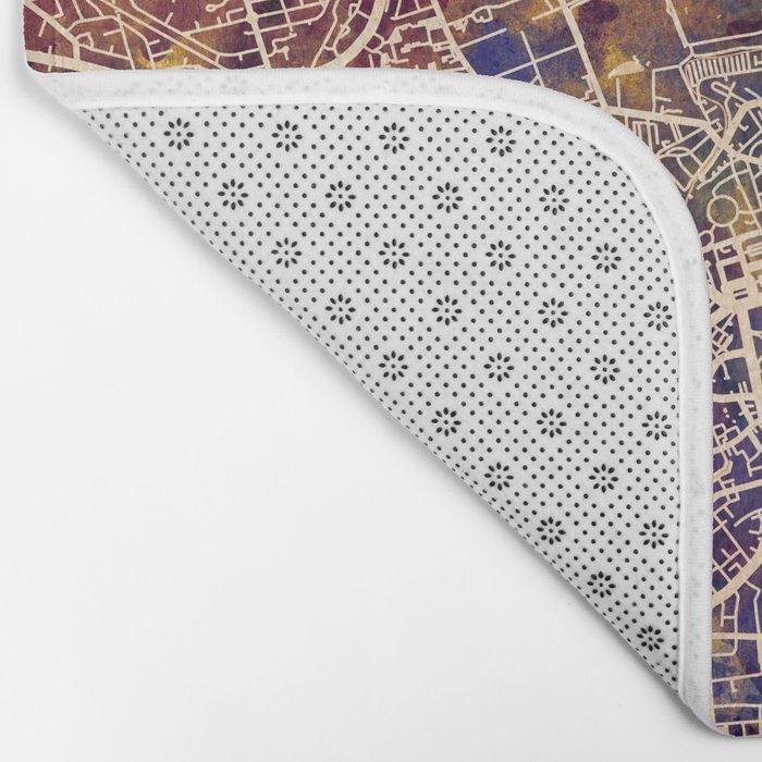 Edinburgh City Scotland Street Map Bath Mat