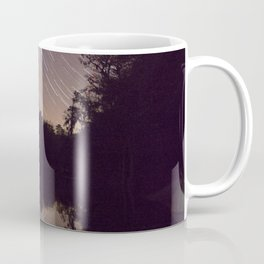 Watercolor Nightscape, St John River 01, Florida, Reflected Startrails Coffee Mug