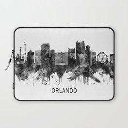 Orlando Florida Skyline BW Laptop Sleeve