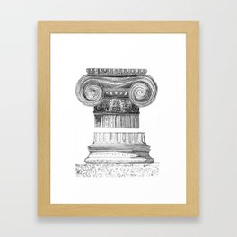 Ionic Capital - Pencil Framed Art Print