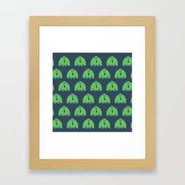 Ike Pattern Framed Art Print