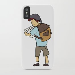 Backpacker iPhone Case