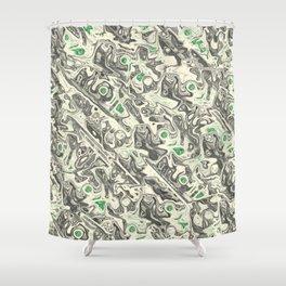 Liquid Assets Shower Curtain
