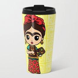 Frida Painting Reality Travel Mug