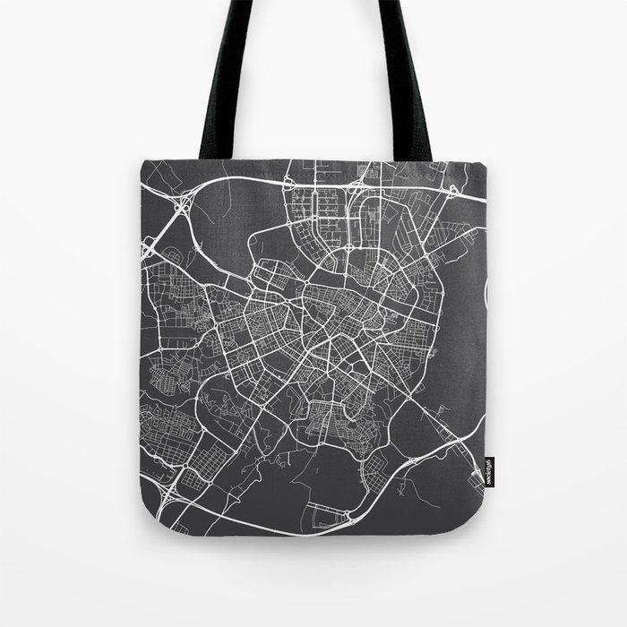 Zaragoza Map, Spain - Gray Tote Bag
