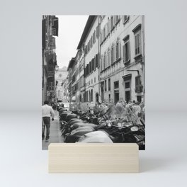 Scooters in Florence Mini Art Print
