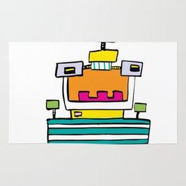 Big Smile Robot Rug